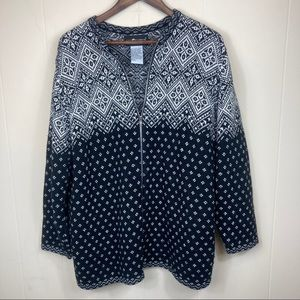 90's Vintage Cozy Zip Up Sweater Size XL